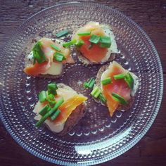 Salmon appetizers