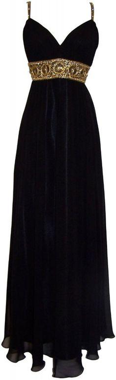 Black New Goddess Beaded Bridesmaid Prom Dress Dress
