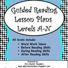 Guided Reading Lesson Plans.  Not sure what the students should be working on at each level?  These plans help you plan your guided reading group with ideas for word work, strategies, and comprehension. On sale for Cyber Monday and Tuesday.  Enter coupon code CMT12 at checkout. $