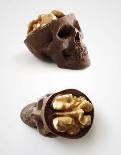 """Chocolate skulls gone nuts"" hahaha via @boredpanda"