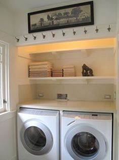 For small laundry room House Design, Room Design, Decor, Remodel, Laundry In Bathroom, Paint Colors For Living Room, Home, Clothing Rack, Room