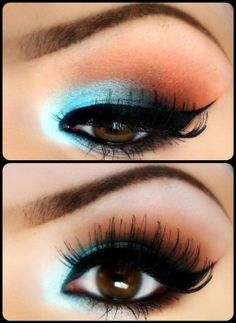 Complimentary Color Eye Shadow i.e Blue goes to Orange, Red to Green, Yellow to Purple. Any eye color can pull this off!