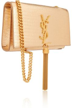 2cdbad2faa Gold lizard-effect leather (Calf) Snap-fastening front flap Comes with dust