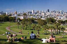 Dolores Park in SF. Lots of times spent sitting in this park with a bottle of wine.