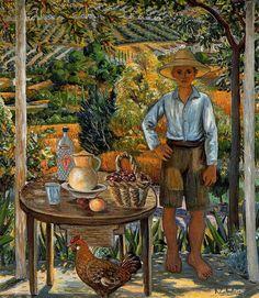 "Rafael Zabaleta Fuentes   ... con el pollo"", 1951 de Rafael Zabaleta Fuentes (1907-1960, Spain"