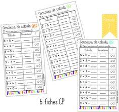 GÉNIAL  FICHE DE CALCULS Concours de calculs CP