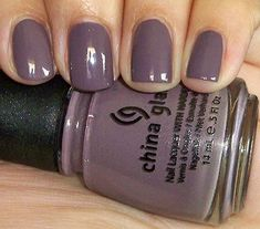 finally found a 'gray' shade that looks good! China Glaze: Below Deck - LOVE LOVE LOVE this color!!