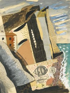 Seven Sisters Collage, 1933 by John Piper © The Piper Estate / DACS/Artimage Photo: Luke Piper John Piper Artist, Collage Art, Collage Ideas, Collages, Art Ideas, Just Ink, Tapestry Design, Royal College Of Art, Printmaking