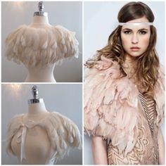 Cassin ostrich feather bolero
