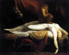 """Henry Fuseli (Swiss 1741–1825) [Romanticism] """"The Nightmare"""" 1781. Fuseli was a freak. I like freaks."""
