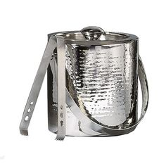 Found it at Wayfair - Hammered Stainless Steel Doublewall Ice Bucket