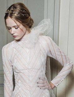 """lamorbidezza: """"Frida Gustavsson Backstage at Valentino Haute Couture Fall 2011 """""""