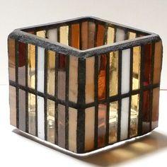 SHARDS OF GLASS MOSAICS: Split Stripe Earth Tones