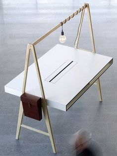 Desk by SA Möbler It creates new possibilities for touchdown work or meetings!