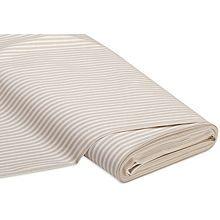 Tissu coton 'rayures', écru/beige