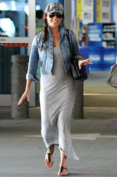I love this look. Laid back, but still cute!