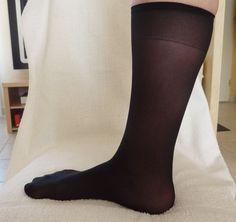 2 paires Mi-bas Noir chaussettes Taille unique microfibre neuf