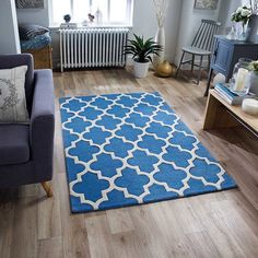 Talleyville Hand-Tufted Blue Rug