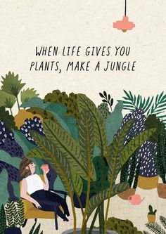 when life gives you plants, make a jungle .when life gives you plants, make a jungle Best Indoor Plants, Outdoor Plants, Garden Plants, Patio Plants, Shade Garden, Potted Plants, Cactus Plants, Plant Art, Plant Decor