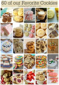 I sat down nearly 2 weeks ago to write this post featuring our favorite cookie recipes, and because there were just so many cookies I wanted to include, it took me hours to finally complete it! Delicious Desserts, Just Desserts, Yummy Treats, Sweet Treats, Yummy Food, Cookie Desserts, Cookie Recipes, Dessert Recipes, Cookie Ideas