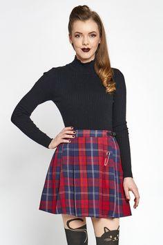 My Boyfriends Back Skirt. Skirt in Red check, Black, White Princess Highway, Cute Princess, My Boyfriend, Mini Skirts, Style Inspiration, Boyfriends, Red, Clothes, Black