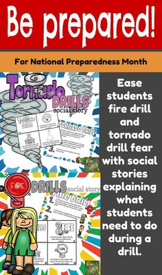 Get ready for National Preparedness Month with a Fire Drill and Tornado Drill…