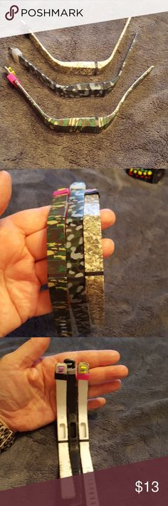 Camo fitbit flex bands 3 camo interchangeable fitbit bands size xl. Small bag of extra accessories. Accessories