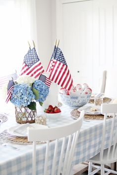 Fourth Of July Decor, 4th Of July Celebration, 4th Of July Party, July 4th, Patriotic Decorations, Table Decorations, Seasonal Decor, Holiday Decor, Holiday Ideas
