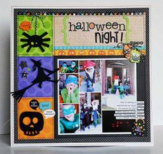 HALLOWEEN NIGHT by Wendy Sue Anderson, scrapbook lay out