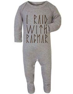 Baby Romper I Raid with Ragnar Vikings Ragnar Play by GWDIRECT