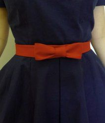"This bow belt tutorial shows how to make your own clothes -- with something as simple as a vintage-inspired belt. - I am not a ""sewer"" but I could make this!  And I know several dresses that would benefit from it!"