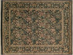 William Morris Pak-Persian Rosy Black/Pink Hand-Knotted Rug (8'1 x 10'1)