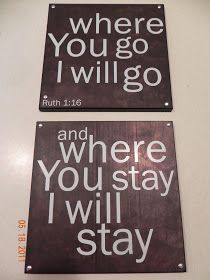 Joyfully Busy: Where you go I will go...