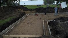 Basement footing ready for concrete