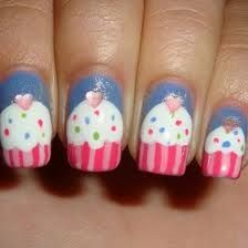 This is how my nails will be painted every day when I work at my bakery.