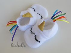 Rainbow Ribbon, Rainbow Baby, White Rainbow, Crochet Baby Cardigan, Crochet Baby Booties, Crochet Hats, Baby Girl Halloween, Toddler Halloween Costumes, Toddler Unicorn Slippers