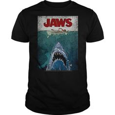 Jaws Lined Poster - #tshirt decorating #sweatshirt jeans. LOWEST SHIPPING => https://www.sunfrog.com/Movies/Jaws-Lined-Poster.html?68278