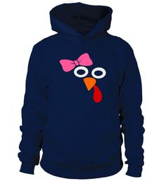 Cute Turkey Face with Pink Bow T Shirt
