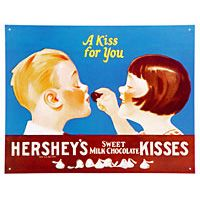 Hershey's Chocolate Kisses Tin Sign  http://www.retroplanet.com/PROD/22345