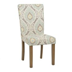 Aqua Ikat Parsons Chair | Kirklands