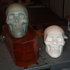 It all depends on budget and quality of the skull you need. Dr. Kreepy's tutorial is awesome to say the least. That guy can make anything. And he does