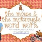 This unit includes over five center activities to help teach important vocabulary from the timeless chapter book, The Mouse and the Motorcycle.