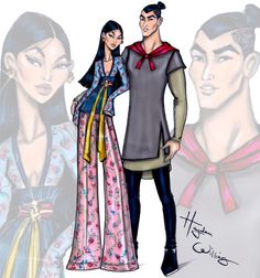 'Disney Darling Couples' by Hayden Williams: Mulan & Li Shang| Be inspirational  ❥|Mz. Manerz: Being well dressed is a beautiful form of confidence, happiness & politeness