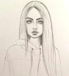 Art & Drawings Drawing, # pencil drawing fixing # pencil drawing photoshop # pencils - Cute Easy Drawings, Cool Art Drawings, Pencil Art Drawings, Drawing With Pencil, Pretty Drawings Of Girls, Drawings Of Hair, Skull Drawings, Beautiful Girl Drawing, Colored Pencil Artwork