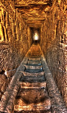 Inside the first pylon - Medinet Habu, Egypt. Medinet Habu is the memorial temple of pharaoh Rameses III. This temple is the only one with a guard tower