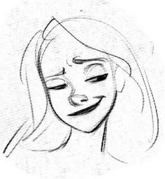 Glen Keane. Rapunzel. Her expression is fabulous. Love how he can capture that with so few lines