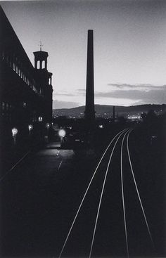 Micheal Kenna - Artistic Photography - Railway Lines, Saltaire, Yorkshire, England, 1983