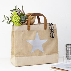 Jute Shopper Bag by TILLYANNA, the perfect gift for Explore more unique gifts in our curated marketplace. Jute Shopping Bags, Amazing Shopping, Jute Bags, Shopper Bag, Leather Handle, Bag Storage, Unique Gifts, Miniature, Reusable Tote Bags