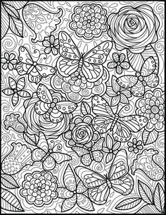 Butterfly Coloring Page, Cat Coloring Page, Flower Coloring Pages, Cool Coloring Pages, Coloring Pages To Print, Coloring Books, Coloring Sheets, Coloring Pages For Grown Ups, Printable Adult Coloring Pages