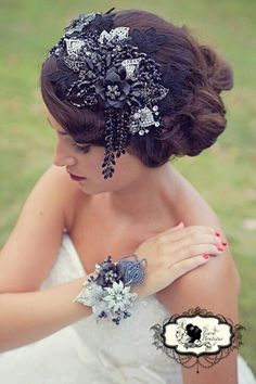 1000+ Images About Hair Pieces On Pinterest | Vintage Hair Pieces Wedding Hair Combs And Bridal ...